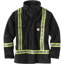 101694-High-Visibility Striped Duck Traditional Coat/ Quilt-Lined
