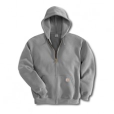 K122:  Midweight Zip-Front Hooded Sweatshirt