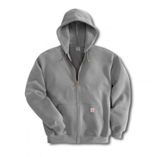K122: Midweight Zip-Front Hooded Sweatshirt