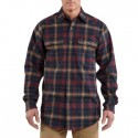 S248: Mens Heavyweight Flannel Plaid Shirt